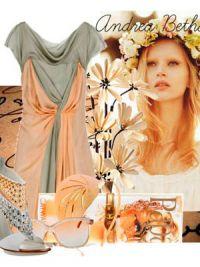 Макіяж під персикове плаття