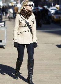 Як зав'язати хустку на пальто?