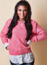 Розовый вязаный свитер Q-10 Collection, категория вязаные.