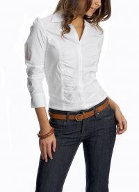 Жіноча біла сорочка