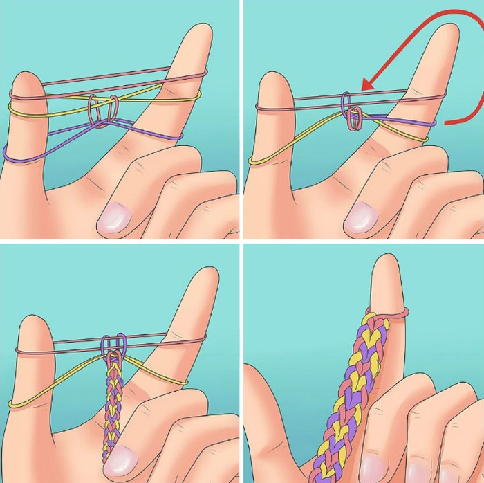 плетения из резинок схемы плетения