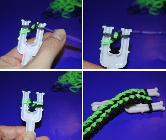 браслеты из резинок на рогатке уроки фото