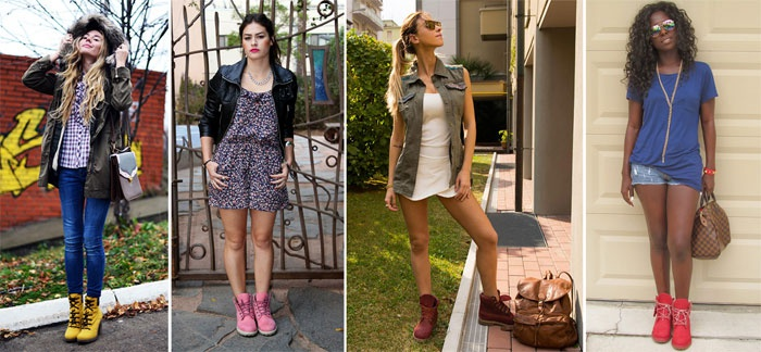 ботинки цветные с чем носить фото