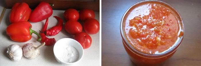рецепт помідори з аджикою
