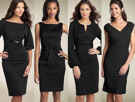 Маленькое платье черное фасоны