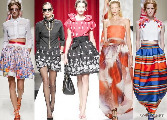 Длинные юбки осень 2015