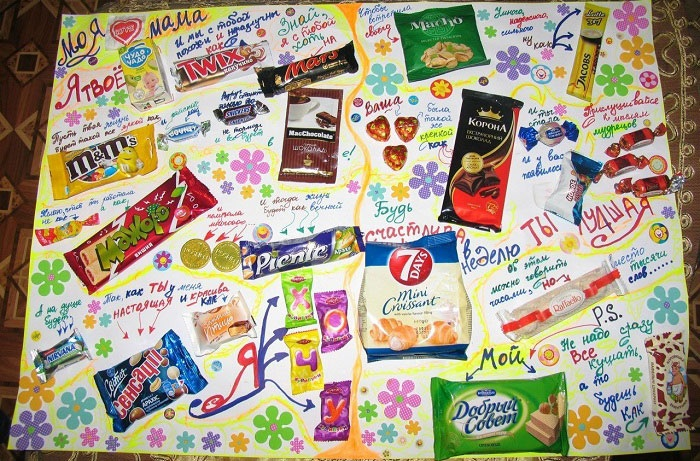Плакаты на день рождения для мамы