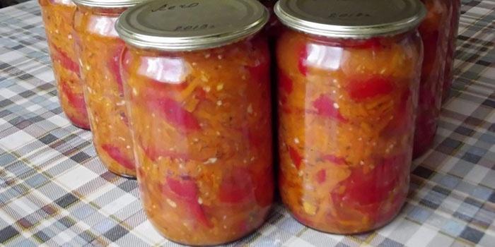 Салаты с зелеными помидорамиы на зиму