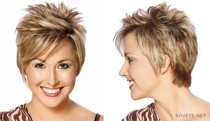 укладка коротких волос фото и видео