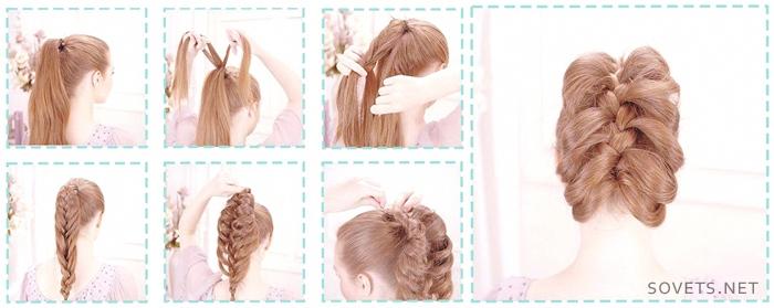 Пошаговая инструкция к прическам для средней длины волос