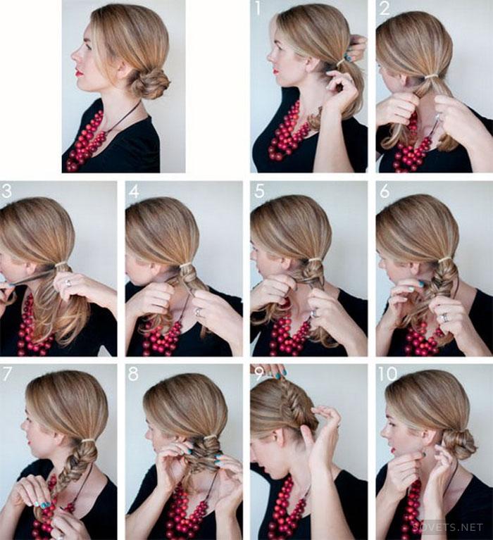 Делать прически средний волос