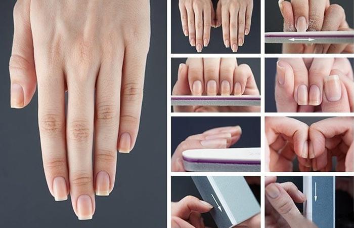 Как из круглых ногтей сделать квадратные ногти