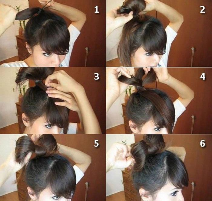 Как сделать бантик на голове своими руками