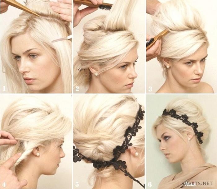 Высокие прически на короткие волосы пошаговая инструкция