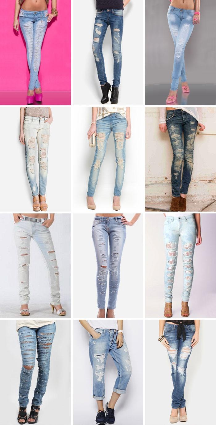 Рваные джинсы своими руками пошагово фото