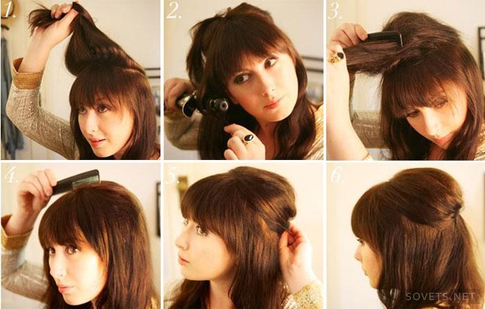 Причёски на средние короткие волосы в домашних условиях