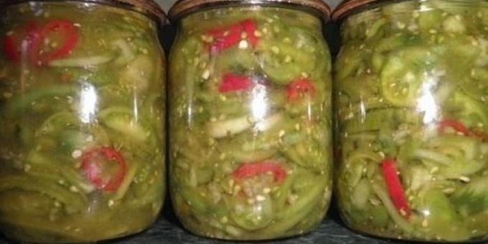 Салат зеленых помидор рецепт с