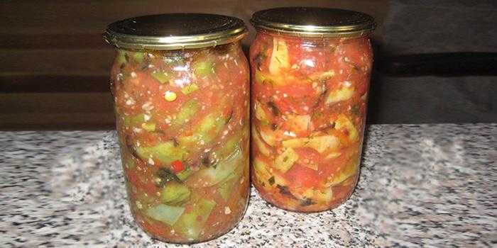 Салат из фасолью на зиму рецепт с