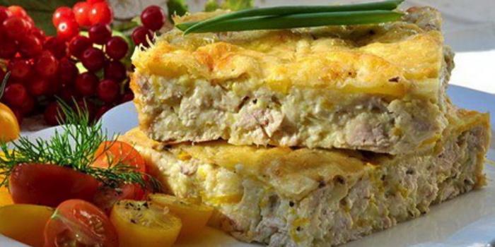 Пирог из кабачков с фаршем в духовке рецепт с пошаговый
