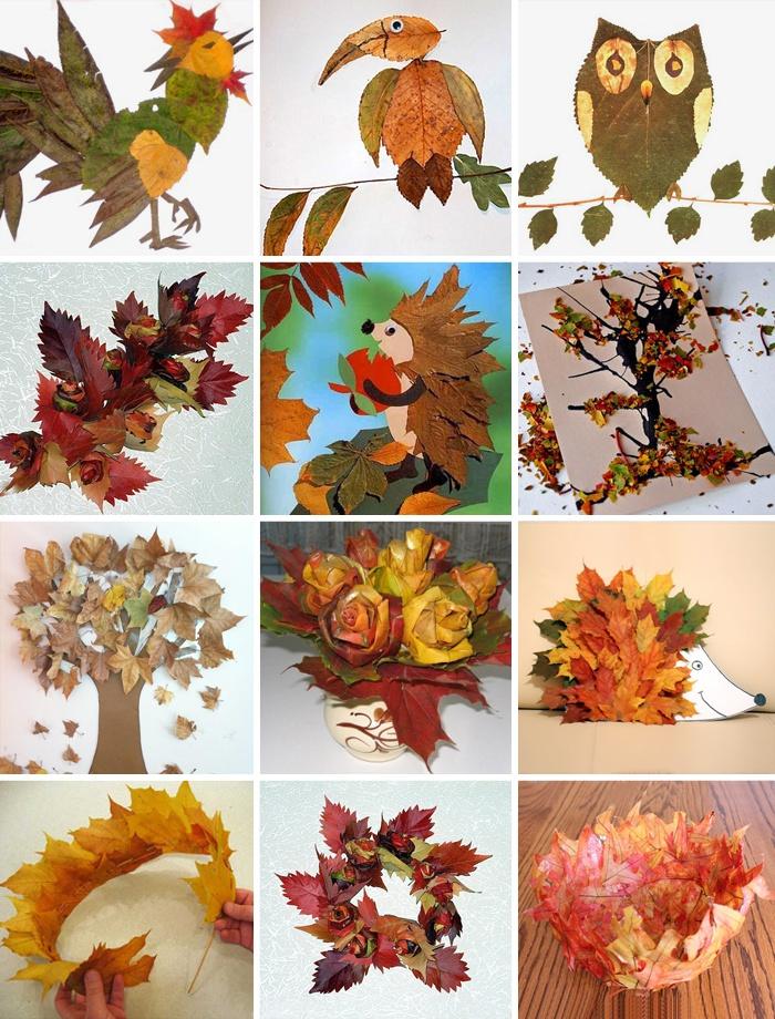 Поделка из листьев на тему осень в детский сад