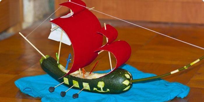 Поделка для детского сада из кабачка