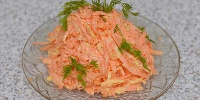 Салат из моркови чеснока