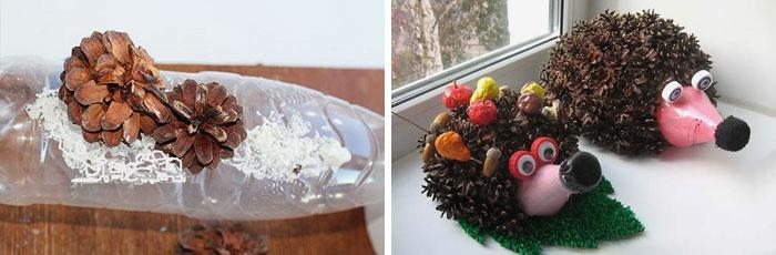 как сделать ежика из шишек еловых Полноприводный тягач