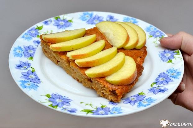 Открытая шарлотка с яблоками рецепт с фото